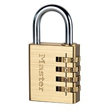 Master Lock 40mm Wide Set-Your-Own Combination Padlock - Brass Finish