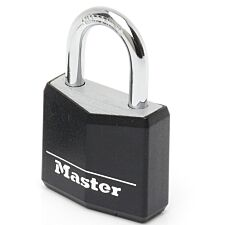 Master Lock 30mm Wide Covered Solid Aluminum Body Padlock - Black