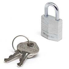 Master Lock 20mm Wide Solid Aluminium Body Padlock -  Pack of 2