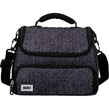 Built Professional 6 Litre Lunch Bag with Storage Compartment - Black