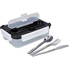 Built Professional 1 Litre Lunch Box with Cutlery - Black