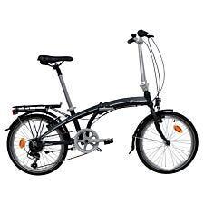 Classic Lightweight Alloy Folding Bike with 7 Speed Shimano Gears - Black