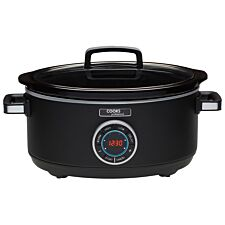 Cooks Professional 6.5L Digital Slow Cooker - Black