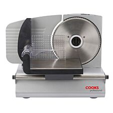 Cooks Professional 150W Food Slicer with 3 Blades - Silver