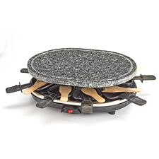 Cooks Professional Raclette Grill with Stone Plate Top - Grey