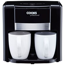 Cooks Professional 2-Cup Coffee Maker - Black