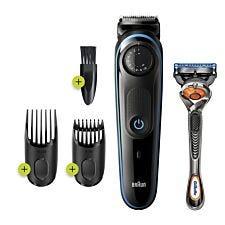 Braun BT3240 Men's Beard Trimmer & Hair Clippers – Black & Blue