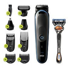 Braun MGK5280 9–in–1 All–in–One Trimmer Kit for Men – Black & Blue