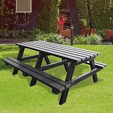 NBB Junior Medium 150cm Recycled Plastic Picnic Table - Black