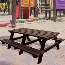 NBB Junior Medium 150cm Recycled Plastic Picnic Table - Brown