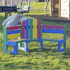 NBB Children's Recycled Plastic Buddy Bench - Multi-Coloured