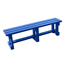 NBB Recycled Plastic Backless 120cm Bench - Blue