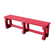 NBB Recycled Plastic Backless 120cm Bench - Cranberry Red