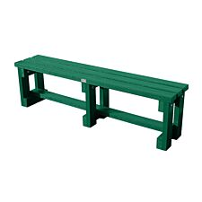 NBB Recycled Plastic Backless 120cm Bench - Green
