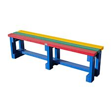 NBB Recycled Plastic Backless 120cm Bench - Multi-Coloured