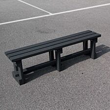 NBB Recycled Plastic Backless 150cm Bench - Black