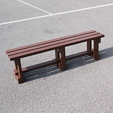 NBB Recycled Plastic Backless 150cm Bench - Brown