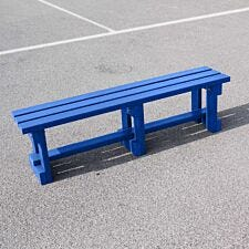 NBB Recycled Plastic Backless 150cm Bench - Blue