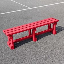 NBB Recycled Plastic Backless 150cm Bench - Cranberry Red