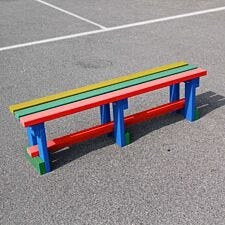 NBB Recycled Plastic Backless 150cm Bench - Multi-Coloured