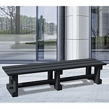 NBB Recycled Plastic Backless 200cm Bench - Black