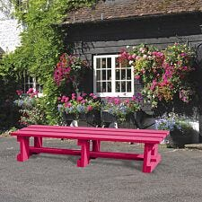 NBB Recycled Plastic Backless 200cm Bench - Cranberry Red