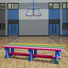 NBB Recycled Plastic Backless 200cm Bench - Multi-Coloured