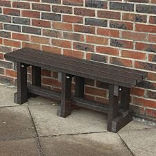 NBB Junior Recycled Plastic 90cm Backless Bench - Brown