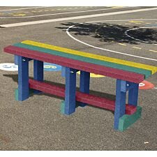 NBB Junior Recycled Plastic 90cm Backless Bench - Multi-Coloured