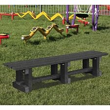 NBB Junior Recycled Plastic 120cm Backless Bench - Black
