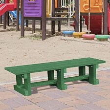 NBB Junior Recycled Plastic 120cm Backless Bench - Green
