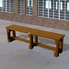 NBB Junior Recycled Plastic 150cm Backless Bench - Brown