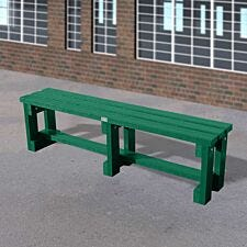 NBB Junior Recycled Plastic 150cm Backless Bench - Green