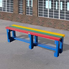 NBB Junior Recycled Plastic 150cm Backless Bench - Muti-Coloured