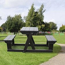 NBB Two Person Recycled Plastic Picnic Table - Brown