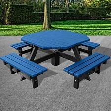 NBB Junior 200cm Octagonal Recycled Plastic Picnic Table - Blue