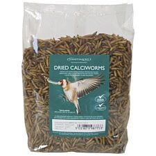 Johnston & Jeff Dried Calciworms Bird Feed 500g