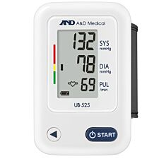 A&D Medical UB-525 Automatic Wrist Monitor - White & Blue
