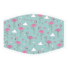 Global Journey Child Face Protector - Flamingos Watercolour