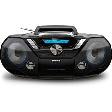 Philips CD Soundmachine  All-in-one Sound System with Bluetooth, USB, CD, Cassette Tape, DAB+ and FM Radio - Black