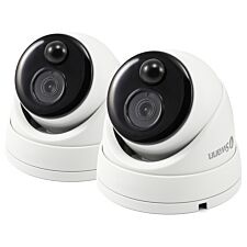 Swann Smart Security 1080p Thermal Sensor Outdoor Dome Add On CCTV Camera with IR Night Vision & PIR Motion Detection - Twin Pack