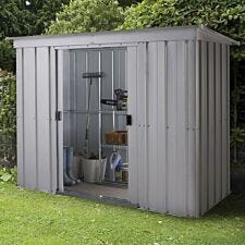 Yardmaster Store All No Floor Metal Pent Shed 8 x 4ft