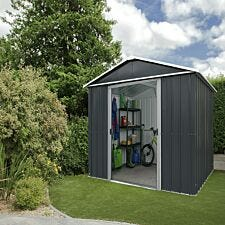 Yardmaster Castleton Metal Apex Shed with Floor Support Frame