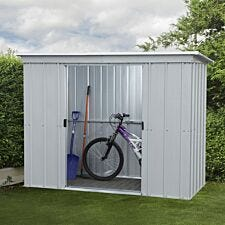 Yardmaster Store All Metal Pent Shed 6 x 4ft with Floor Support Frame