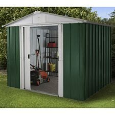 Yardmaster Emerald Metal Apex Shed 8 x 7ft with Floor Support Frame