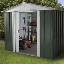 Yardmaster Emerald Metal Apex Shed 8 x 9ft with Floor Support Frame