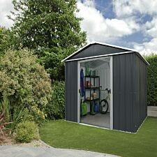 Yardmaster Castleton Metal Apex Shed 6 x 7ft with Floor Support Frame