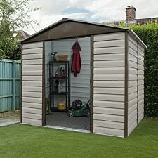 Yardmaster Shiplap Metal Shed 8 x 6ft with Floor Support Frame