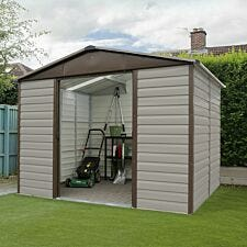 Yardmaster Shiplap Metal Shed 10 x 8ft with Floor Support Frame