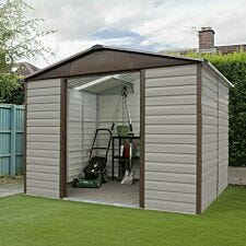 Yardmaster Shiplap Metal Shed 10 x 12ft with Floor Support Frame